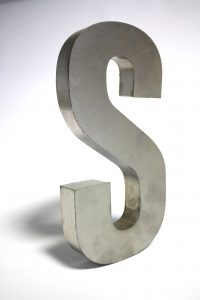 "SIlver letter ""S"""
